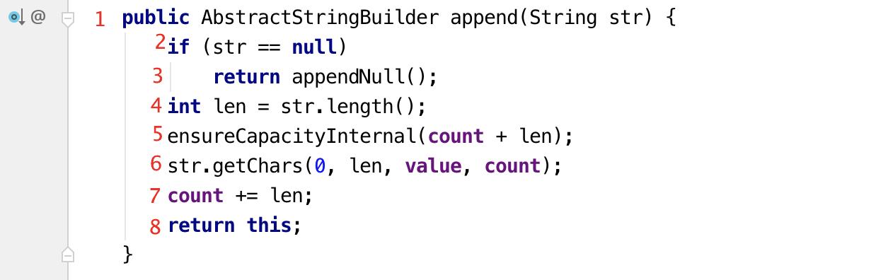 AbstractStringBuilder.append(String str)